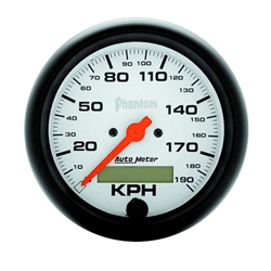Auto Meter 5887-M Phantom Air-Core Speedometer, 190 KM/H, 3-3/8 Inch