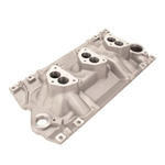 Edelbrock S/B Chevy Vortec 3x2 Manifold for 3-Bolt Carb