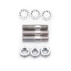Edelbrock 8006 Edelbrock Carburetor Stud Kit, Steel, Cadmium Plated