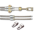 Lokar EC-81FHT Ford Explorer Style Stainless Rear Disc Cable Kit