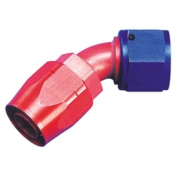 Aeroquip FBM1022 45 Degree Hose End Coupler Fitting, Red/Blue, -6 AN