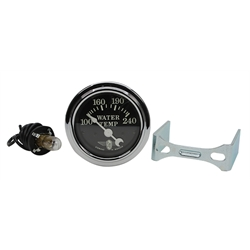 Stewart Warner 82478 Wings Electric Water Temp Gauge, Black