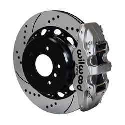 Wilwood 140-13583-DN AERO4 Rear Disc Parking Brake Kit, 14 Inch