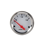 Speedway Electric Voltmeter Gauge, 2-1/16 Inch