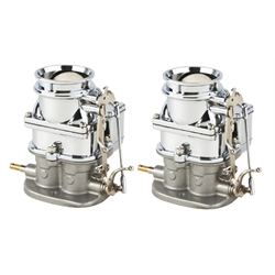 Pair of Primary 9 Super 7® 3-Bolt 2-Barrel Carbs, Chrome Finish
