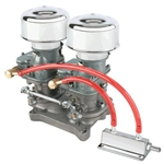 Chrome 9 Super 7® Carbs on a Single 4 Barrel Intake Manifold Adapter Kit