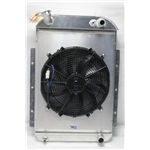 Garage Sale - AFCO Custom 29-1/2 X 18-1/2 Inch Vertical Radiator With 16 Inch Cooling Fan/Shroud