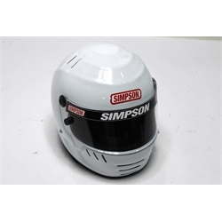 Garage Sale - Simpson JR Speedway Shark Helmet, White, Medium