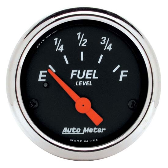 Auto Meter 1424 Designer Black Air-Core Fuel Level Gauge, 2-1/16 Inch