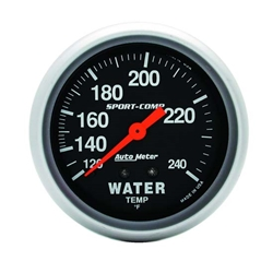 Auto Meter 3432 Sport-Comp Mechanical Water Temperature Gauge