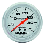 Auto Meter 4404 Ultra-Lite Mechanical Boost Gauge, 35 PSI, 2-5/8 Inch