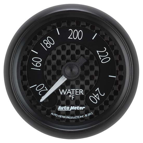 Auto Meter 8032 GT Mechanical Water Temperature Gauge, 2-1/16 Inch
