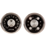 Classic Instruments CH51AT52 1951-52 Chevy Package Gauge Set, Black