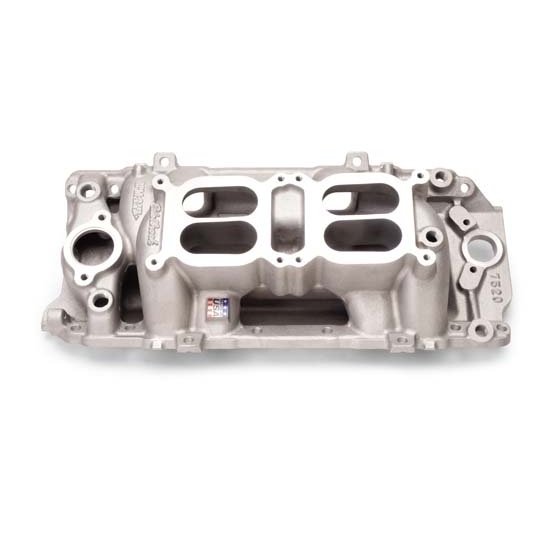 Edelbrock 7520 RPM Air Gap Dual-Quad Intake Manifold, Big