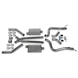 Hooker 42503HKR Header Back Exhaust System, Stainless Steel, 2.5 Inch