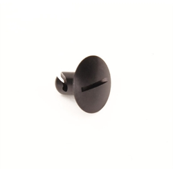 Black Quarter Turn Panel Fastener, Extra Large 1-1/8 In Diameter Head