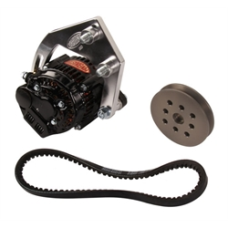 Powermaster 8-800 SB Chevy 50 Amp Mini Alternator Kit w/V-Belt
