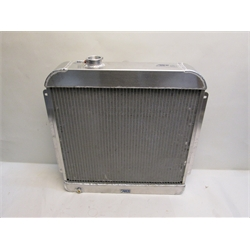 Garage Sale - AFCO 1955-56 Chevy Aluminum Radiator, Chevy Engine, With Trans Cooler
