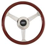 Grant 1057 Classic Banjo Steering Wheel, Mahogany Rim, 14-3/4 Inch
