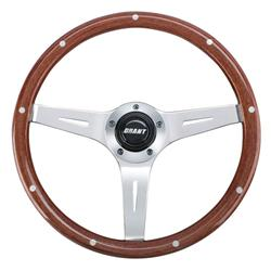 Grant 1175 Collectors Edition 14 In 3-Spoke Rivet Wood Steering Wheel