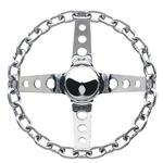 Grant 740 Chain 4-Spoke Steering Wheel, 11 Inch