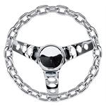 Grant 741 Chain 3-Spoke Steering Wheel, 10 Inch