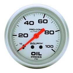 Auto Meter 4421 Ultra-Lite Mech Oil Pressure Gauge, 100 PSI, 2-5/8