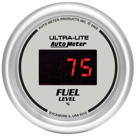 Digital Fuel Gauge For Car : Auto meter ultra lite digital fuel level