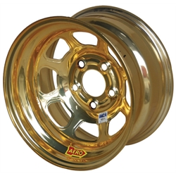 Aero 52-984740GOL 52 Series 15x8 Wheel, 5 on 4-3/4 BP, 4 Inch BS IMCA