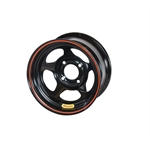 Bassett 38ST5 13X8 D-Hole 4 on 4.5 5 Inch Backspace Black Wheel