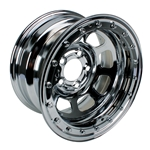 Bassett Wissota Certified Wheel, Beadlock, 15x8, 5 on 5 Inch, Chrome