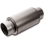 Dynatech 776-06352 Split Flow Race Muffler, 3-1/2 Inch Inlet/Outlet