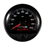 Longacre 46538 Stepper Motor Racing Gauge, Fuel Pressure 0-100 PSI