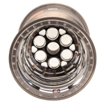 Weld 735B-51657 15x16 Splined Sprint Wheel, Mudcover, 7 Inch Offset, Black