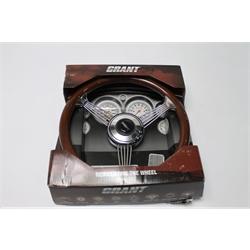 Garage Sale - Grant 1057 Classic Banjo Steering Wheel, Mahogany Rim, 14-3/4 Inch