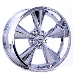 Boyds Wheels BC1-876540C Junkyard Dog 18x7 Chrome Wheel, 5 on 4-1/2