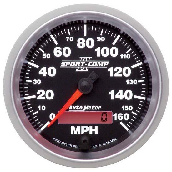 auto meter 3688 sport comp ii air core speedometer 160. Black Bedroom Furniture Sets. Home Design Ideas