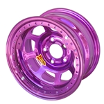 Aero 53985020WPUR 53 Series 15x8 Wheel, BL, 5 on 5, 2 Inch BS Wissota