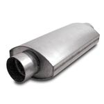 Dynatech 776-14352 Oval Split Flow Mufflers, 3-1/2 Inch