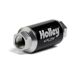 Holley 162-551 100 GPH HP Billet Fuel Filter, 3.5 Inch Length