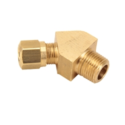 Air Suspension Tubing Male Connector Elbow Fitting, 45 Degree