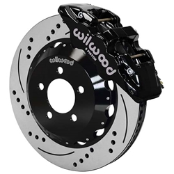 Wilwood 140-14067-D AERO6 14.25 Inch Drilled Front Brake Kit, Black
