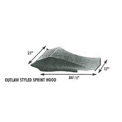 Vintage Outlaw Style Sprint Car Fiberglass Hood