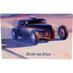 Tom Fritz Recipe For Speed Tin Sign, 24 x 12 Inch