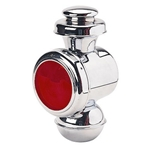 Speedway Tall Model T Chrome Steel Cowl/Tail Light, Red Lens, 12 Volt
