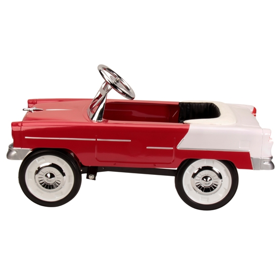 1955 chevy red pedal car free shipping speedway motors for Speedway motors used cars