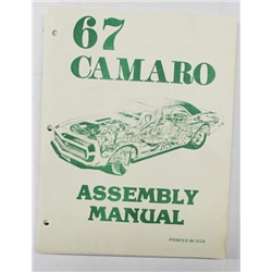 Jim Osborn Factory Assembly Instruction Manual, 1967 Camaro