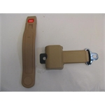 Garage Sale - Push Button Retractable Lap Belt - Tan