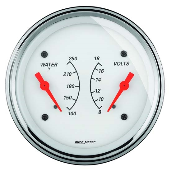 Auto Meter 1330 Arctic White Air-Core Dual Gauge