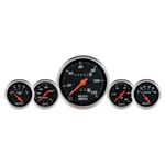 Auto Meter 1411 Designer Black 5 Piece Gauge Kit